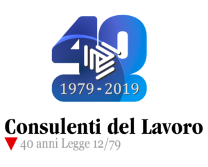 Logo Consulenti del Lavoro 1979-2019