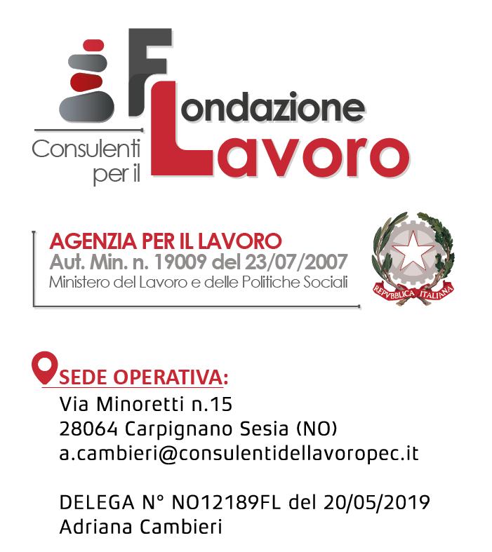 ogo Fondazione Lavoro Delega NO12189FL del 20/05/2019